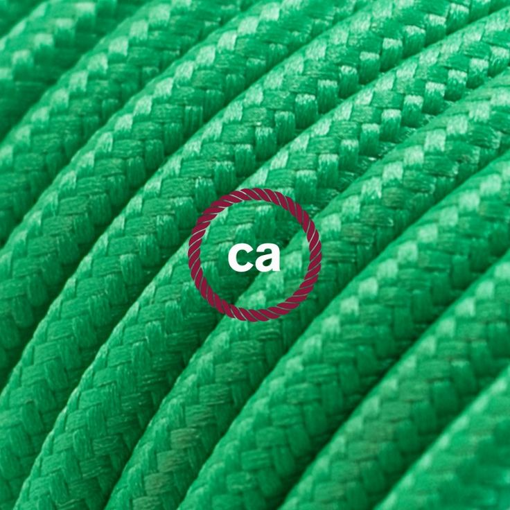 Round Electric Cable covered by Rayon solid color fabric RM06 Green Choose your country here: www.creative-cables.net #lighting #illuminazione #homedecor #house #haus #maison #hogar #casa #design #fabric