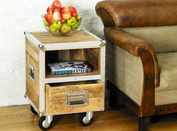 Boston Chic Lamp Table / Bedside Table   Boston Chic Reclaimed Wood   Shop  By Range