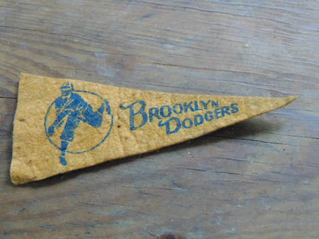 Pennant, Brooklyn Dodgers, Souvenirs, Miniature, Baseball Souvenirs, Scrapbooking, Altered Art by simpleholidaydecor on Etsy