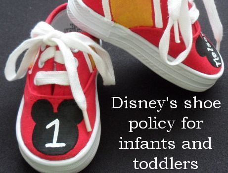 Who does and doesn't need shoes at Disney World
