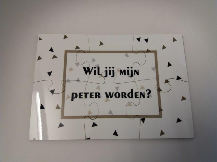 Puzzel *Wil jij mijn peter worden?*