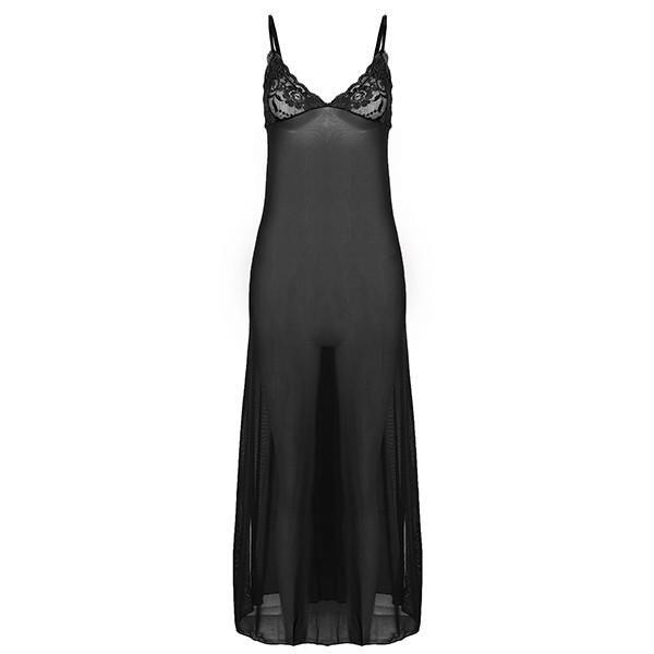 Sexy Strap Lingerie Women Chemises New Lace Long Sleepwear Dresses Nightwear Sleepwear Nightdress Nightgown Plus Size
