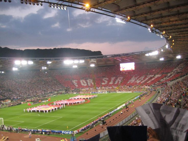 27/5/2009 Rome Champions League Final. Manchester United vs Bareclona
