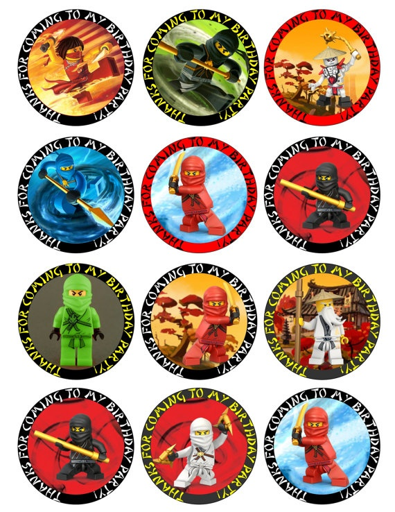 NINJAGO Circle or Square Printable Birthday Party by GELATODESIGN, $7.50