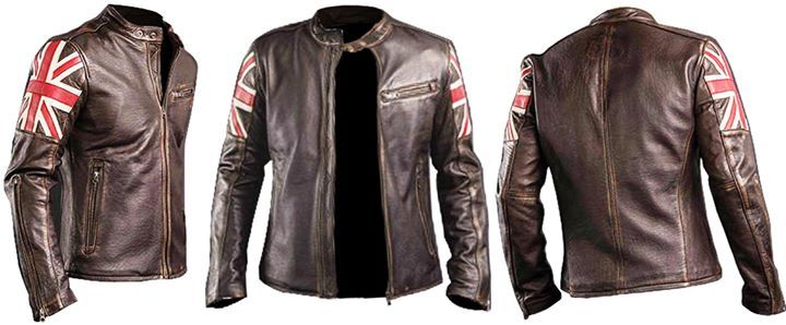 Men Biker Vintage Motorcycle Cafe Racer UK Flag Brown Jacket  https://www.amazon.com/Biker-Racer-Brown-Leather-Jacket/dp/B06VX88S5J  Zaan Leathers is Launching Men Biker Vintage Motorcycle Cafe Racer UK Flag Brown Jacket for Our Valuable Customers Who Want to Look Stylish but Decent. The UK Flag Biker Cafe Racer Brown Jacket is Made from Real Leather Along with the Inward Covering of Viscose to Make it Even More Attractive and More Demand Able. We are Offering 100% Money Back Guarantee as…