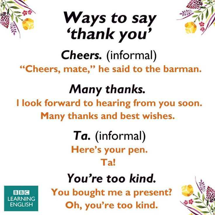 """Ways to say """"Thank you"""" #learnenglish"""