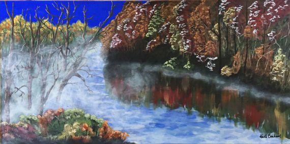 Original Acrylic Painting  Enchantment by KristiBonham on Etsy