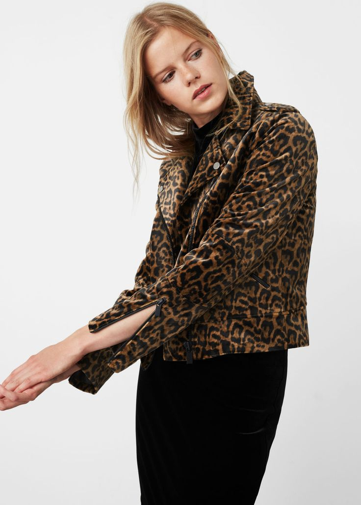 Animal pattern jacket - Jackets for Women   MANGO USA