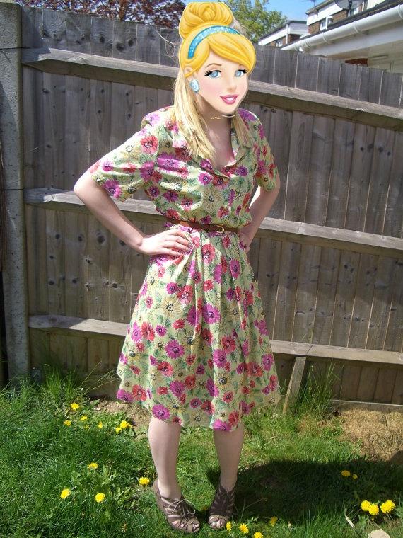Beautiful Vintage Floral Summer 1940's style Dress by Wondarlust, £20.00