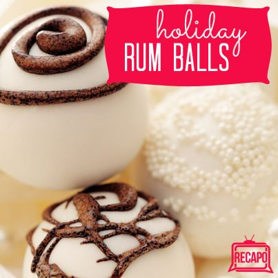 Carla Hall Rum Balls Recipe 1/4 cup Dark Rum 4 Tbsp Butter 1 1/2 C ...