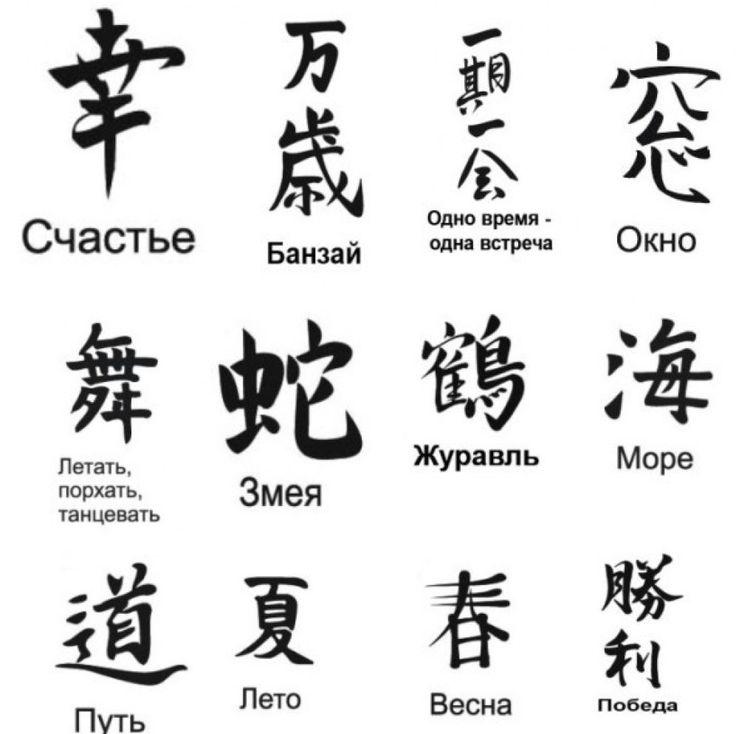 и значение их иероглифы японские фото