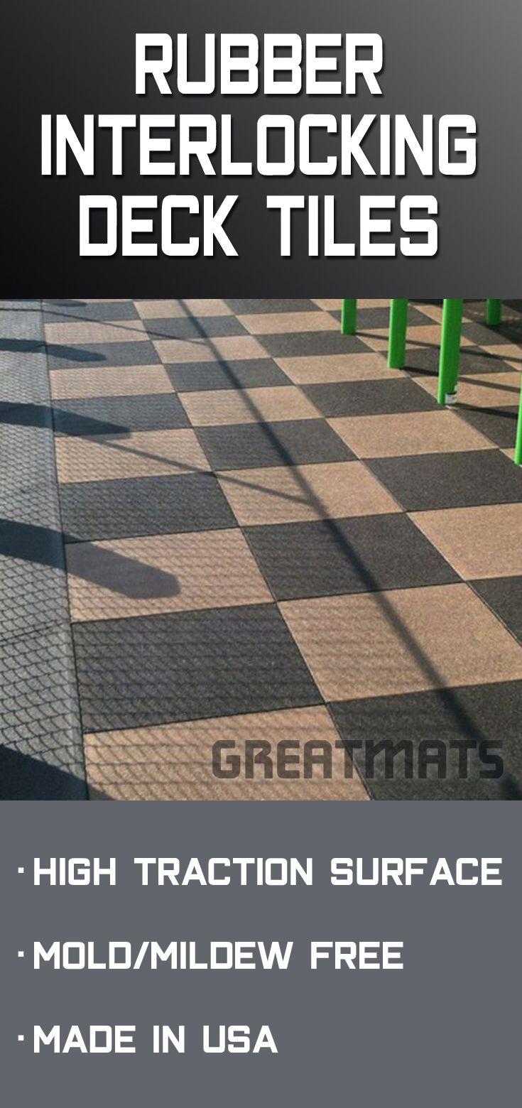 Blue Sky Outdoor Rubber Tile 1 5 Inch Standard Colors In 2020 Outdoor Rubber Tiles Deck Tiles Interlocking Deck Tiles