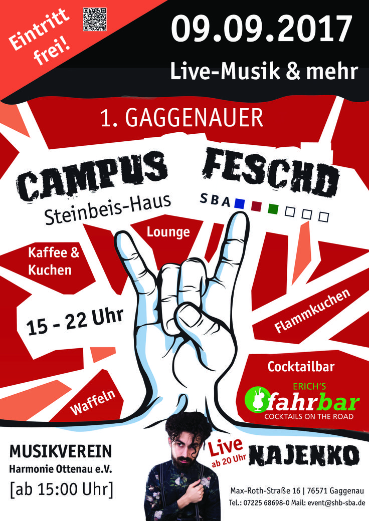 "1. Gaggenauer ""Campus Feschd"" am Steinbeis-Haus."