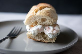 ... | Grilled cheeses, Shrimp salad sandwiches and Cubano sandwich