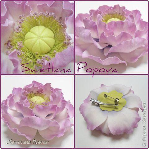 Украшение Моделирование конструирование Мои новые цветочки из фоамирана   Фоамиран фом фото 4