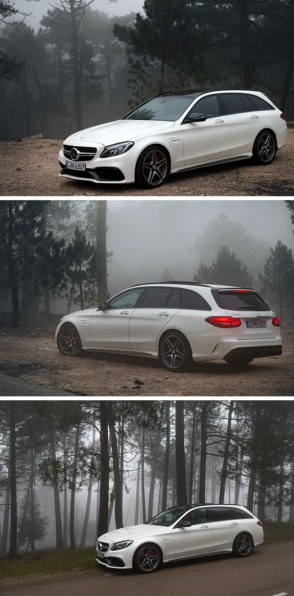 Gloomy weather in Korsika.  Photos by Helix4Motion (www.helix4motion.com) for #MBsocialcar  [Mercedes-AMG C 63 S Estate   Fuel consumption combined: 8.6–8.4 l/100km   combined CO₂ emissions: 200–196 g/km   http://mb4.me/efficiency_statement]