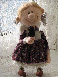 Авторские куклы Натальи Савиновой.Девочка гимназистка очень любит кружевные бантики и вкусное мороженое.needle felting.