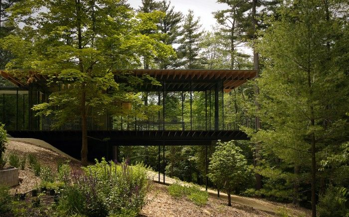 """The delicacy of the structures creates a building sympathetic to its surroundings, with a """"light touch""""."""