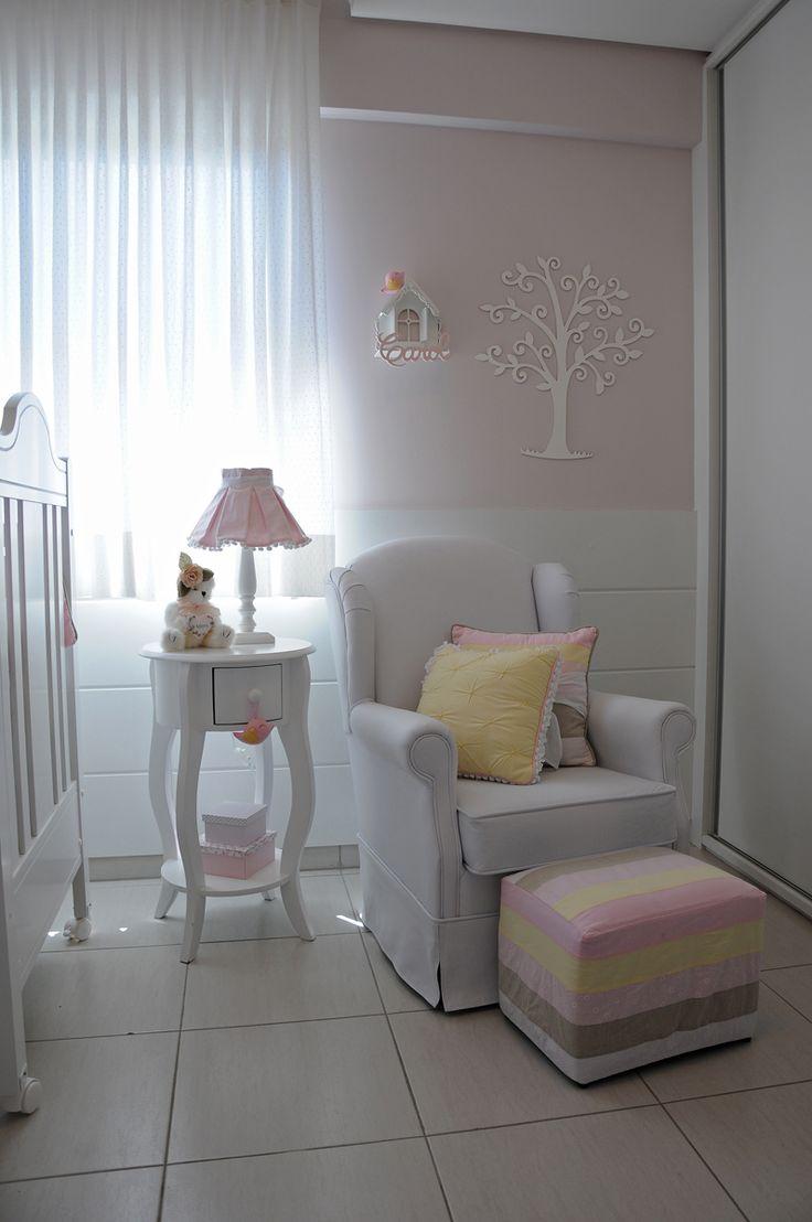 Quarto bebê amarelo e rosa #projetojunejaim…