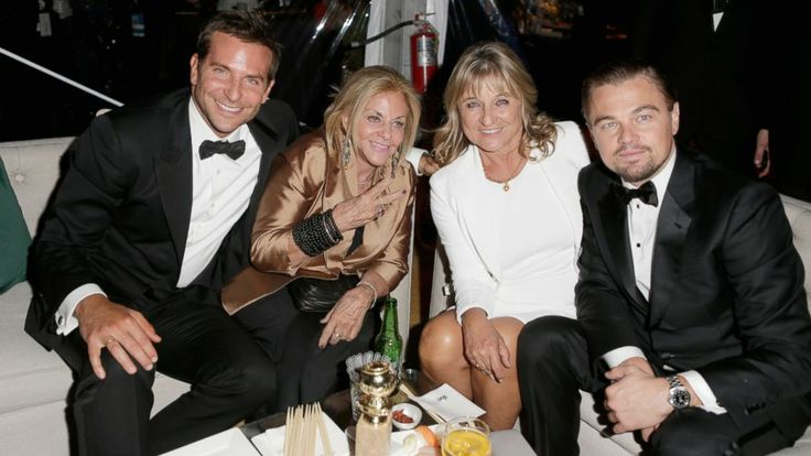 Leonardo DiCaprio and Bradley Cooper Bring Their Moms to Golden Globes - ABC News