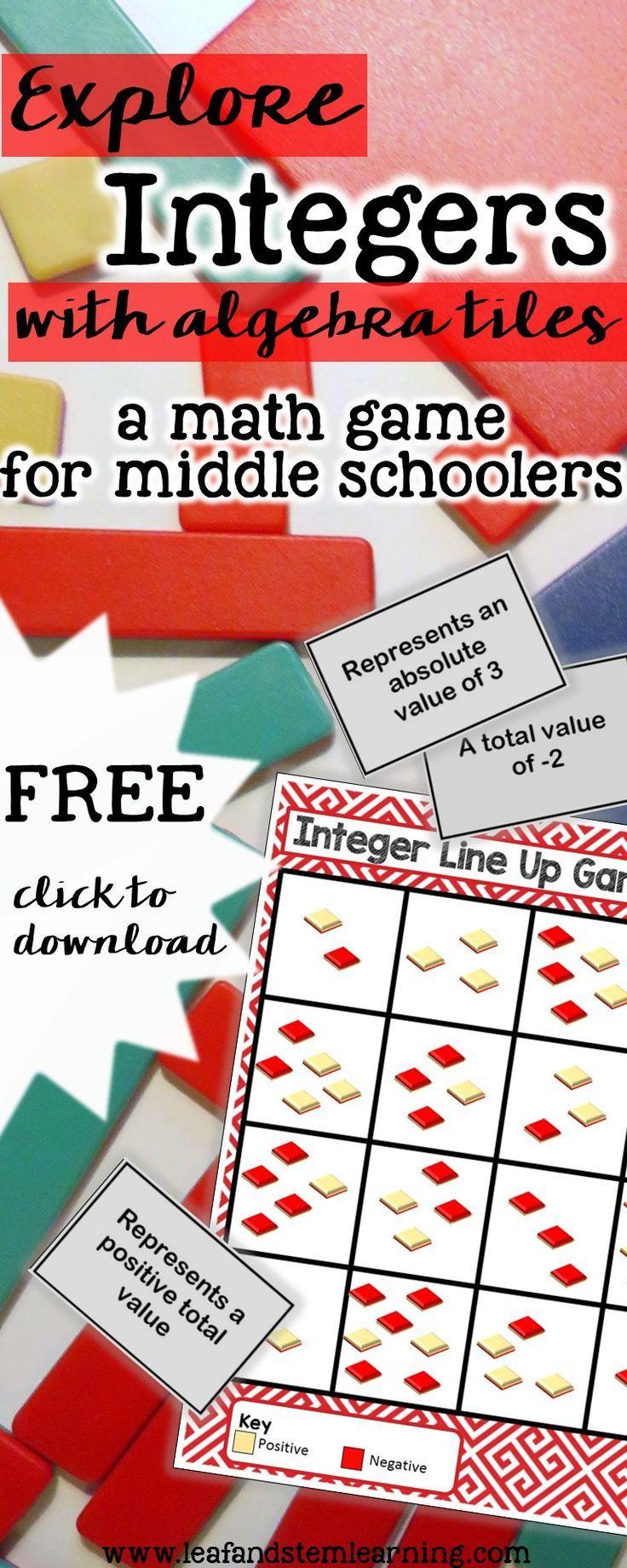 Free Integer Center | Algebra Tiles Game | Middle School Math