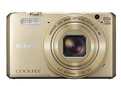 Nikon digital camera COOLPIX S7000 20 times zoom 16050000 pixels gold S... P/O