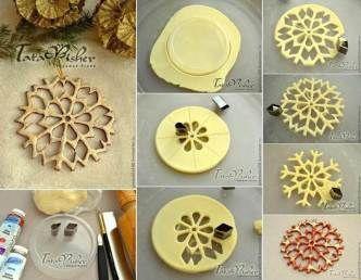 Creatieve Ideeën - DIY Zout Deeg Snowflake Ornamenten