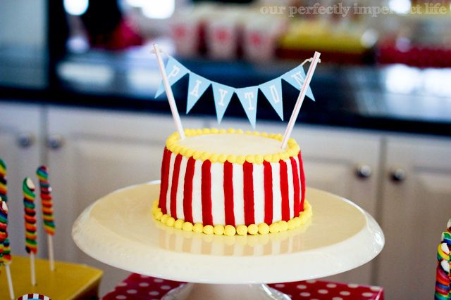 Carnival or circus birthday cake
