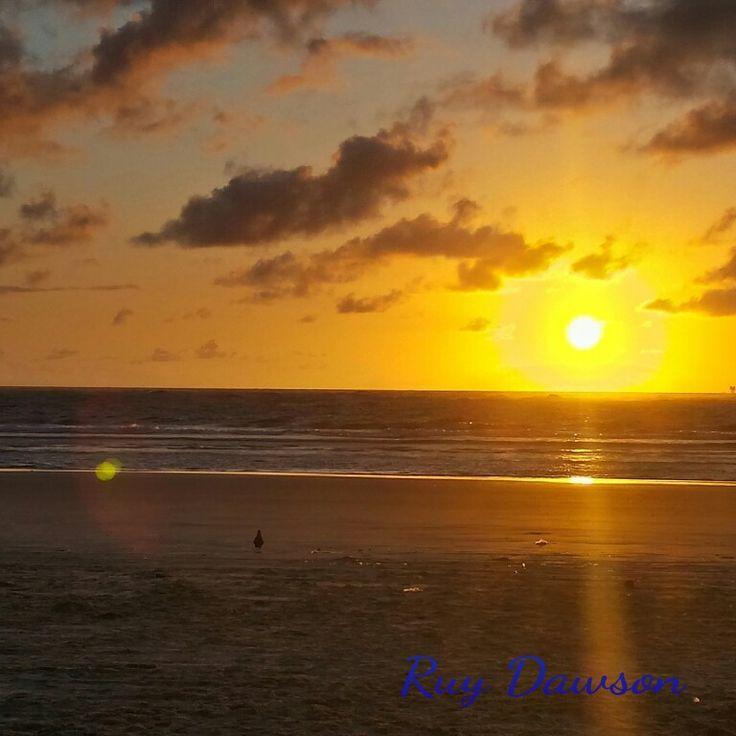 Pôr do sol na praia dos artistas.... Aracaju