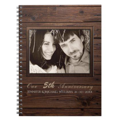 Wedding Anniversary PHOTO Gift - ANY YEARS MARRIED Notebook - modern gifts cyo gift ideas personalize