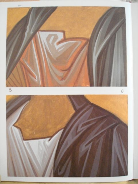 Icon drapery. Creases and folds, shadows and highlights