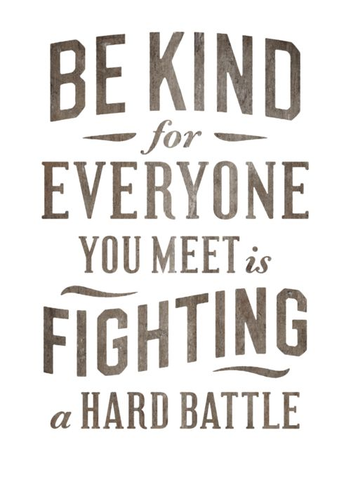 it's simple...just be kind!