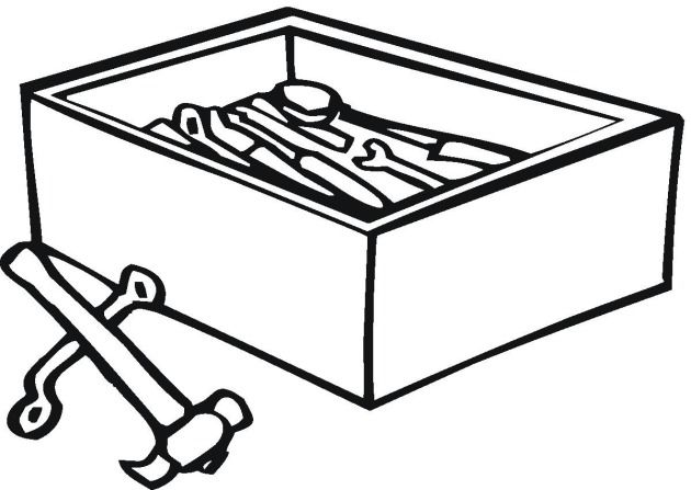 Free Tools Coloring Pages Coloring Pages Color Tool Box