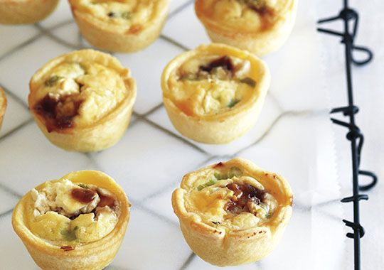 Try this free, quick and easy caramelised onion & feta tarts recipe - yum!