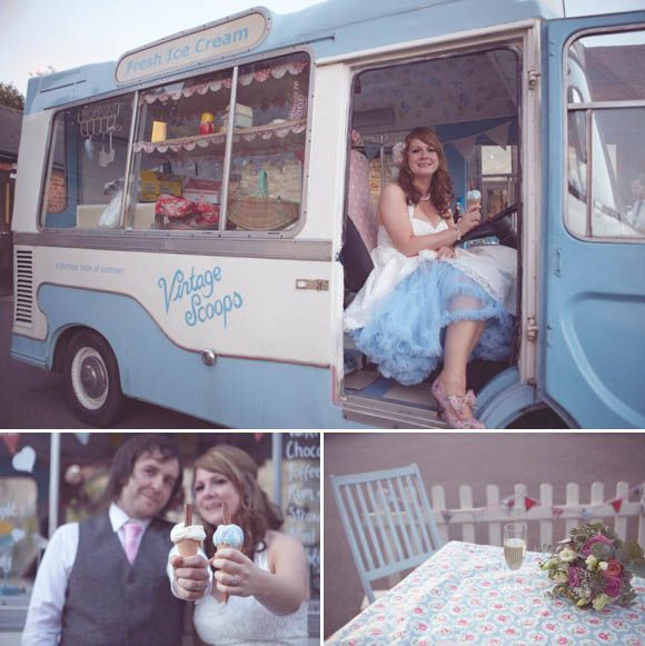Viven of Holloway for a Sweet, Vintage Inspired, Afternoon Tea and Ice Cream Wedding...