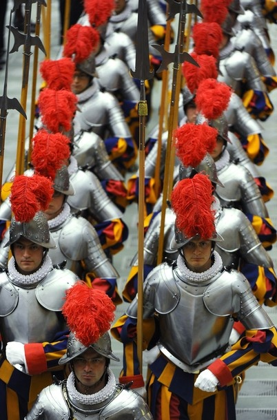 This burning fire: The Pope's Audience to the Swiss Guards