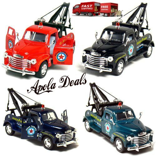 """Die Cast Car Models Set Of 4 Trucks Like Old Time  This Die Cast Car Models Set Of 4 Trucks Like Old Times brings back a lot of good memories of old times.  Die Cast Car Models  5"""" Die-cast Metal 1/38 Scale Doors Openable Pull Back Action Offic..."""