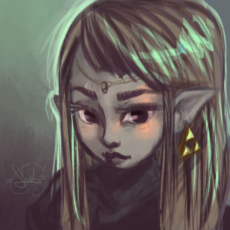 The Wisdom - Kid Zelda by me (Strega02 on DeviantArt) http://th03.deviantart.net/fs70/PRE/i/2015/025/a/2/the_wisdom___kid_zelda_by_strega02-d8fc4bl.jpg