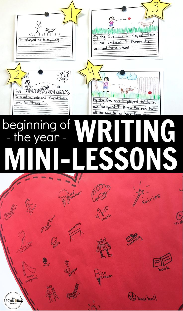 mini lessons for writing Each mini-lesson is composed of four parts (connection, teach, active engagement, link): connection : the teacher puts today's work into the context of children's ongoing work as writers and explicitly names what they'll be learning today.