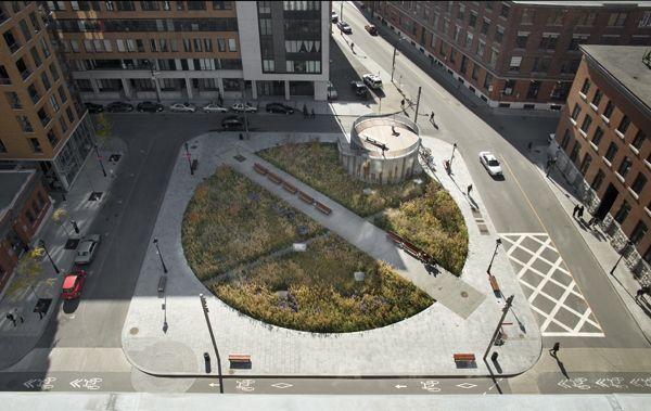 Square des Frères-Charon / Affleck + de la Riva Architects
