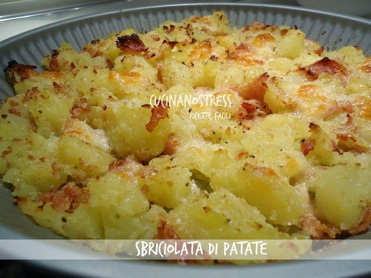 Cucinanostress  : SBRICIOLATA DI PATATE con prosciutto cotto e mozza...