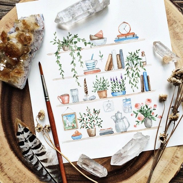 Tiny details of life. Definitely need to draw more.  illustration, cute, plants, nature, drawing