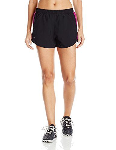 €7.63 in Gr. M * Under Armour Damen Fly By Shorts Kurze Hose, Black * Sportbekleidung Damen günstig