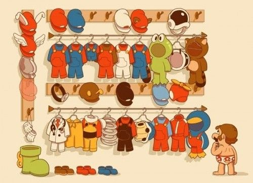 Super Mario Bros: Geek, What To Wear, Closets, Wardrobe, Mario S Closet, Video Games, Super Mario, Mario Bros