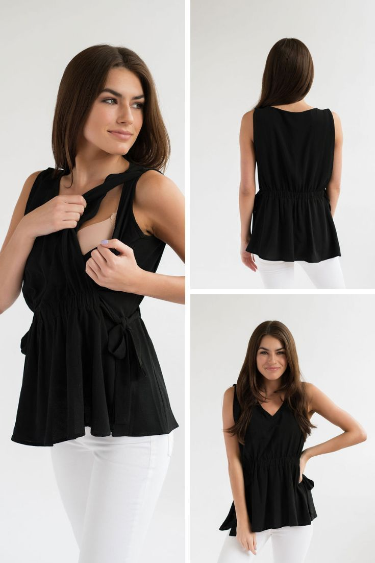 1c1677704 Flowy and flattering nursing top that can be dressed up or down. Nursing  access is