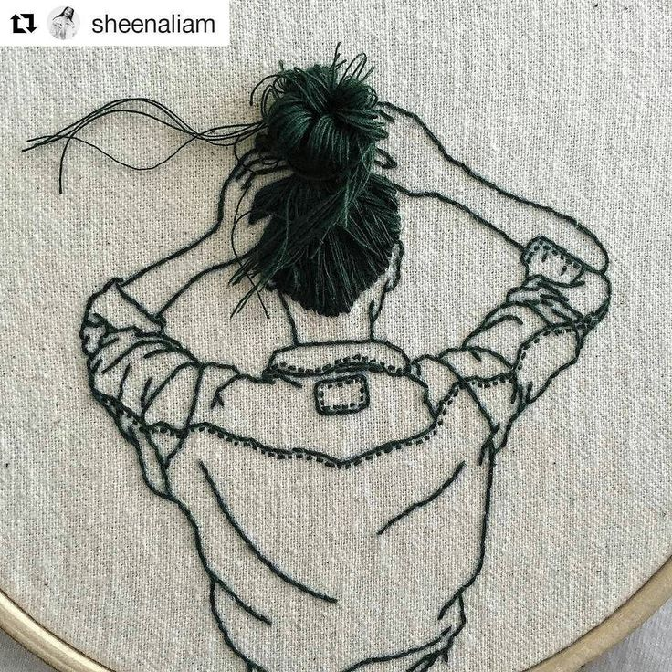 Such a simple idea yet so effective. #regram @sheenaliam  Up on @_______ism #embroidery #embroideryhoop #embroideryart #handembroidery #hoopla #3DTextiles #blackandwhite #hair #creativityfound #cool #mrxstitch via The Mr X Stitch official Instagram  Share your stitchy 'grams with us - @mrxstitch #xstitchersofinstagram #mrxstitch