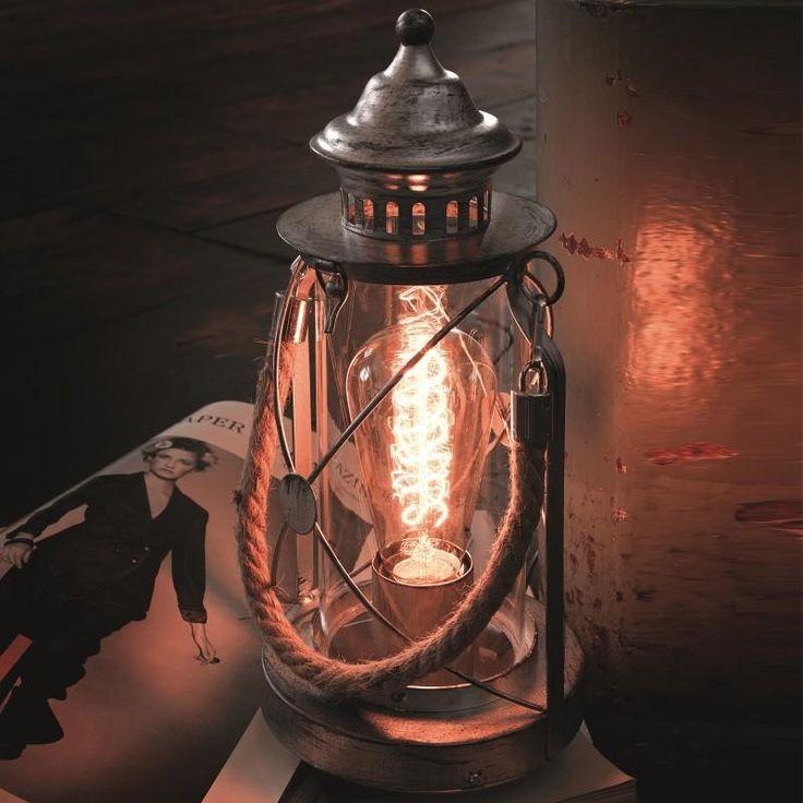 Настольная лампа BRADFORD 1xЕ27х60Вт, стекло, серебро