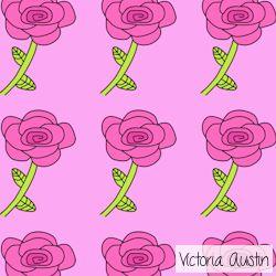 pink rose digital pattern