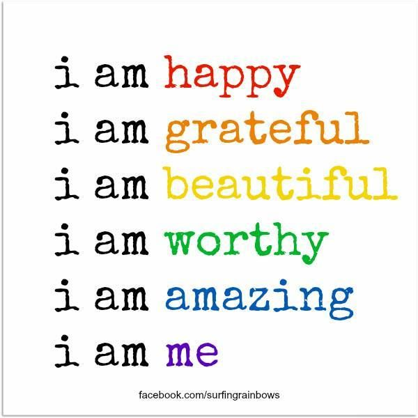 Make this your daily mantra and be ready for GOODNESS! I am worthy. I am amazing. I am me. ❤ #Free2Luv