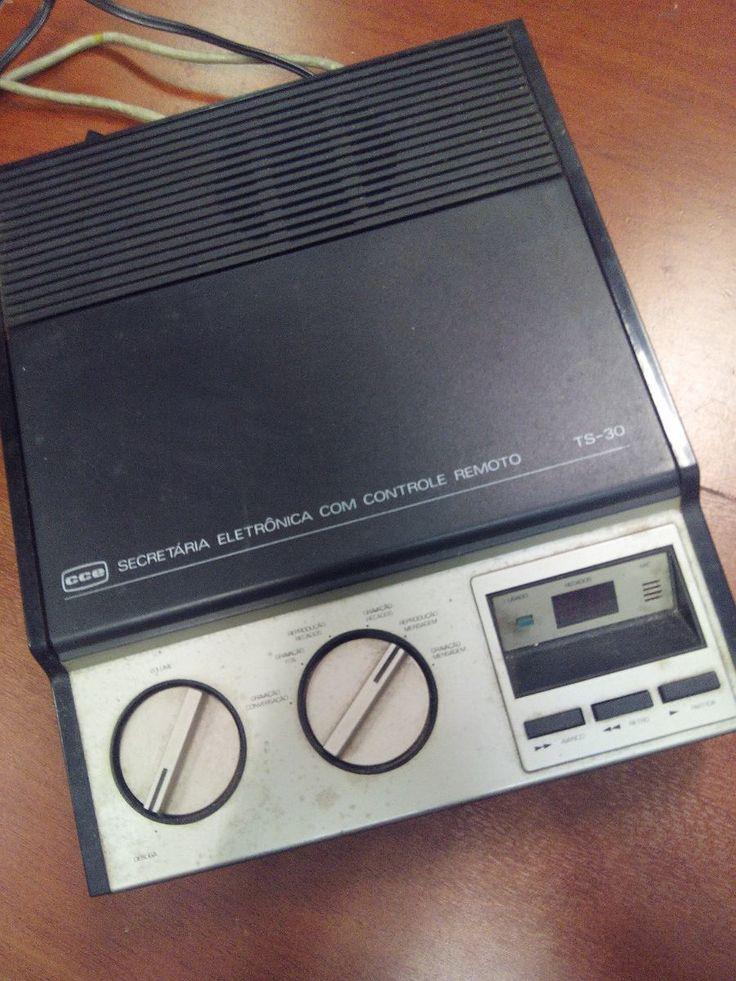 secretaria eletrônica cce ts30 - antiga dos anos 1980